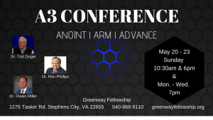 A3 CONFERENCE - Greenway Fellowship in Stephens City, VA