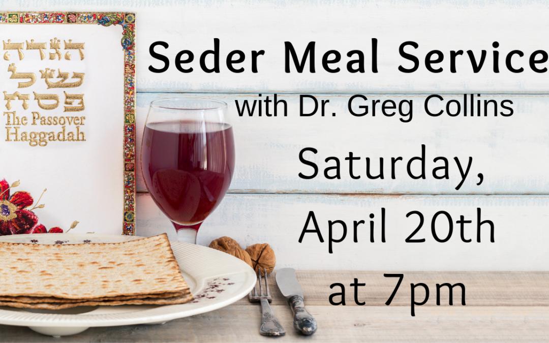 Seder Meal Service
