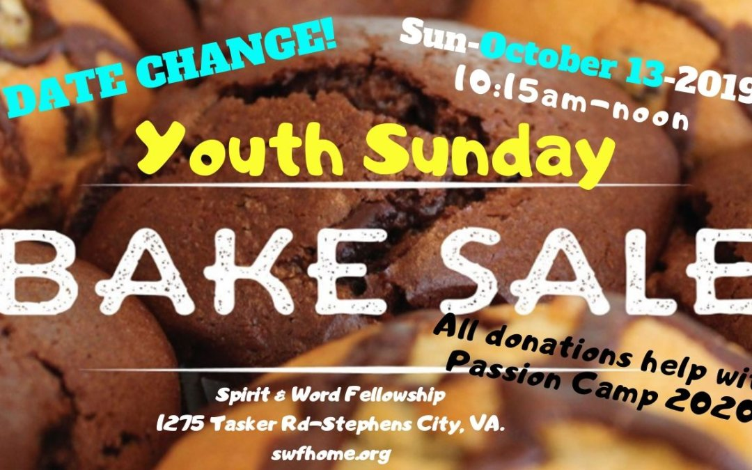 Youth Sunday Bake Sale