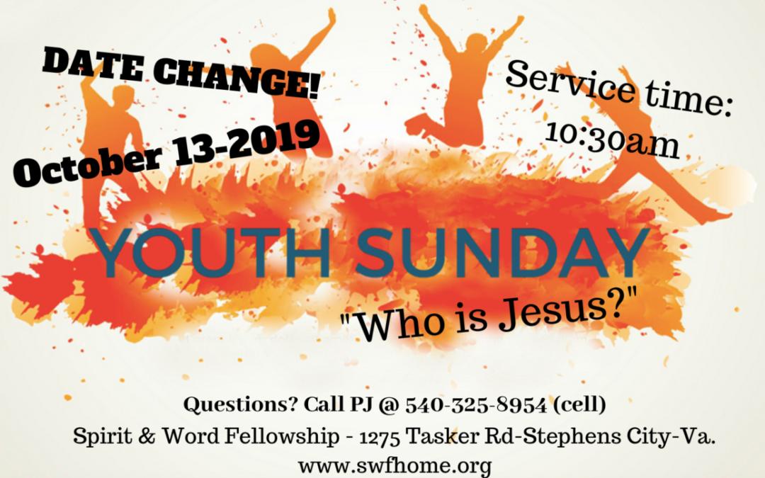 Youth Sunday – 10/13/19